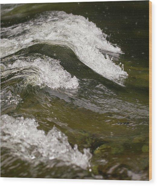 River Waves Wood Print