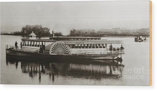 Riverboat  Mayflower Of Plymouth   Susquehanna River Near Wilkes Barre Pennsylvania Late 1800s Wood Print