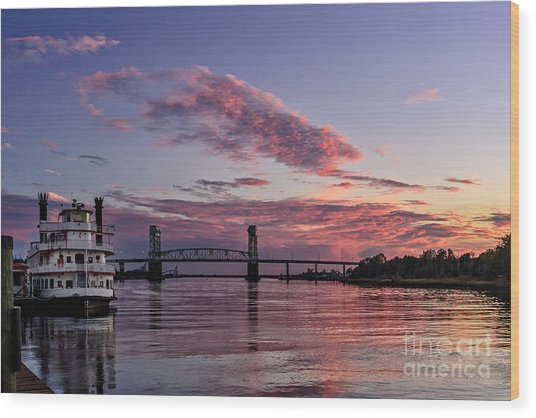 Cape Fear Riverboat Wood Print