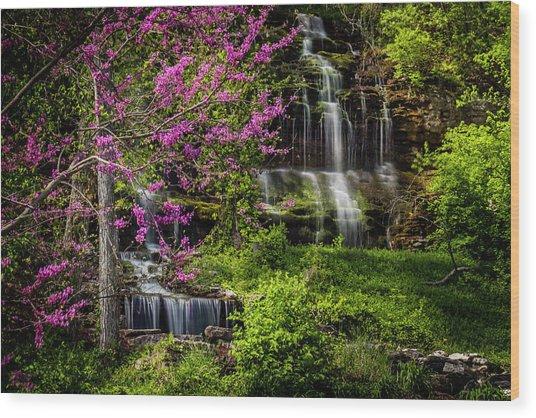Rivercut Waterfall Wood Print