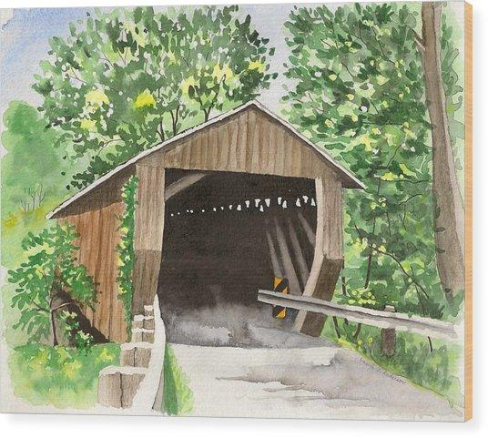 Riverdale Road Bridge Wood Print