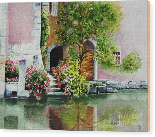 Riverfront Property Wood Print