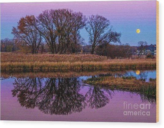 Riverglow Wood Print