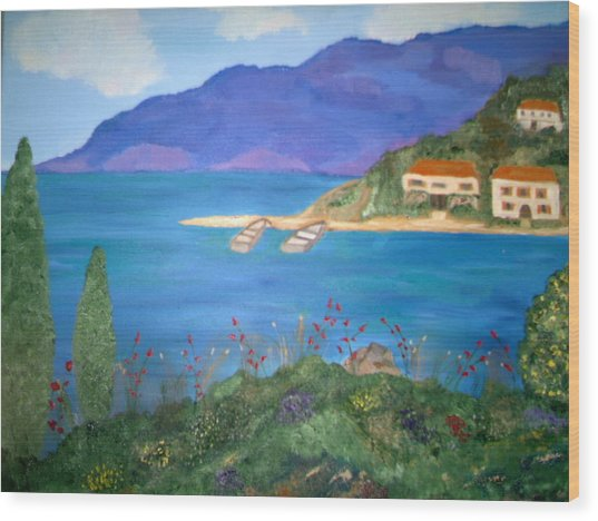Riviera Remembered Wood Print by Alanna Hug-McAnnally