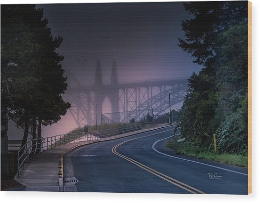 Road Home Wood Print