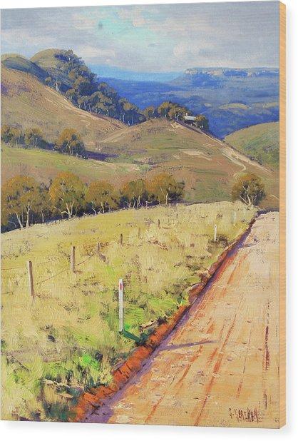 Road Into The Kanimbla Valley Wood Print