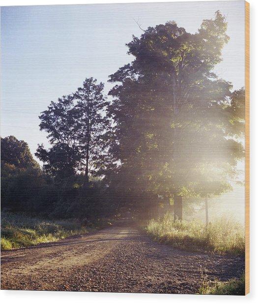 Road Wood Print