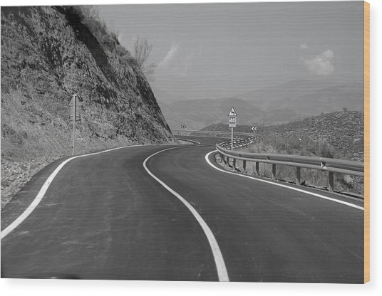 Road Out Wood Print by Jez C Self
