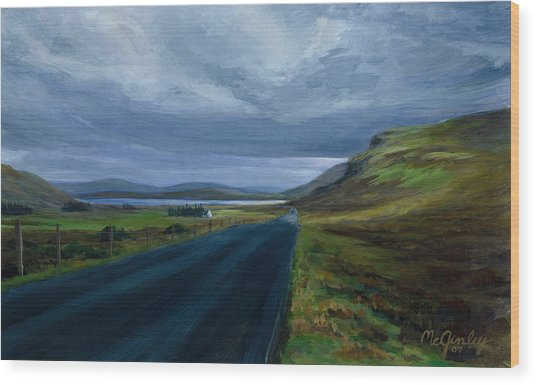Road To Lough Barra Donegal Wood Print
