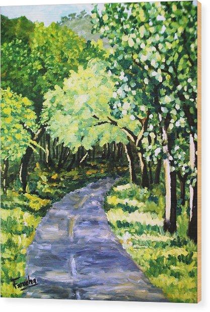 Road To Margalla  Wood Print