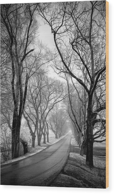 Road To Meems Bottom Bridge Wood Print