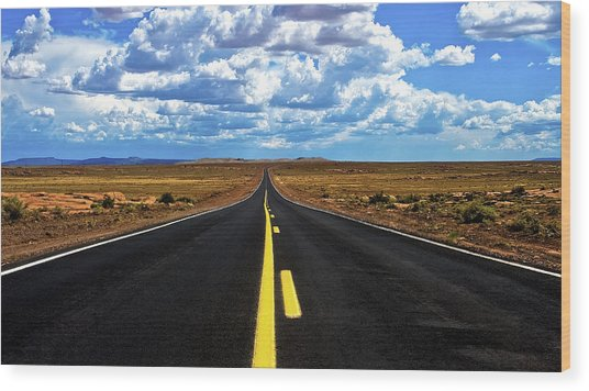 Road To Meteor Crater Wood Print