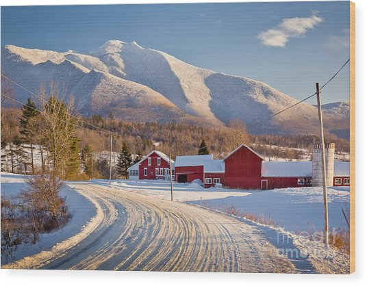 Road To Mount Mansfield Wood Print