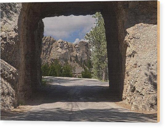 Road To Mt. Rushmore Wood Print