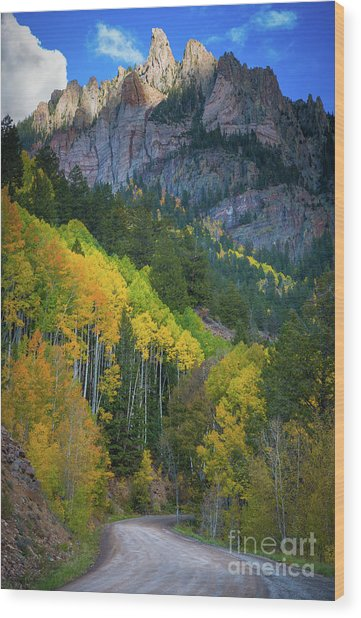 Road To Silver Mountain Wood Print