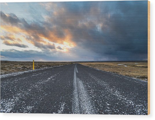 Road To The Sky Wood Print