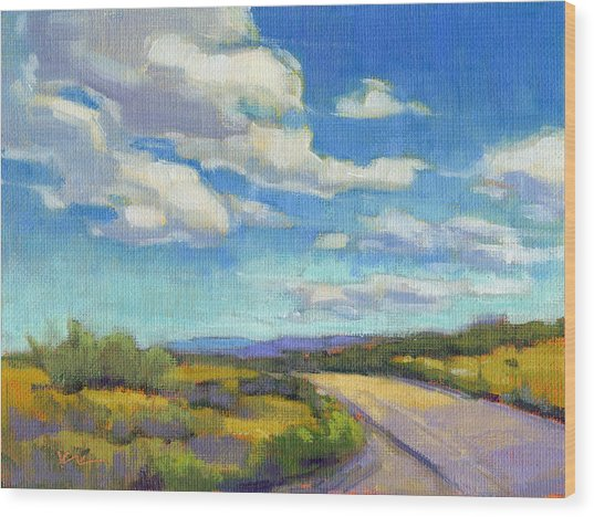 Wood Print featuring the painting Road Trip - Study by Konnie Kim