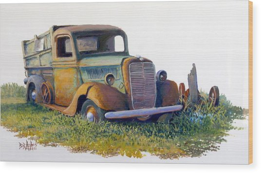 Road Warrior Retired Wood Print by Bob  Adams