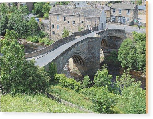 Roadbridge Over The River Tees Wood Print