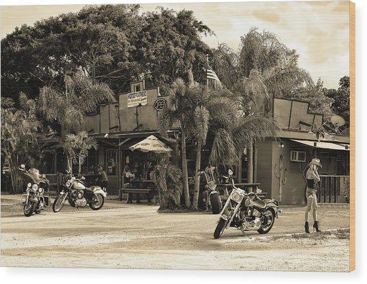 Roadhouse Wood Print