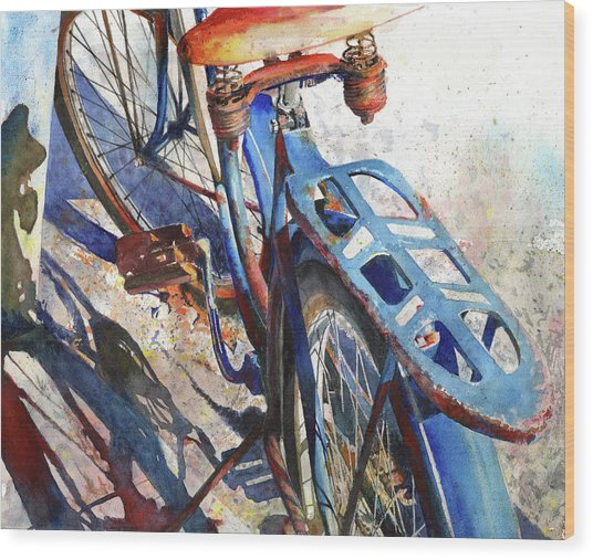 Wood Print featuring the painting Roadmaster by Andrew King