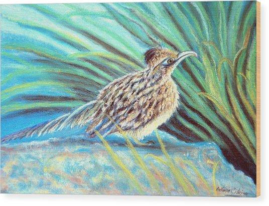 Roadrunner Fluffing Sold   Pastel Wood Print