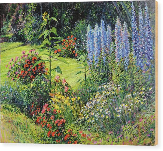 Roadside Garden Wood Print