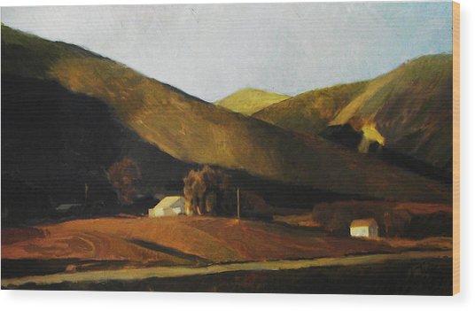 Roadside Wood Print