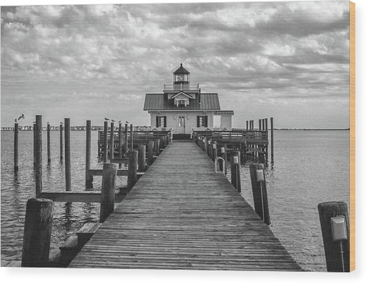 Roanoke Marshes Light Wood Print
