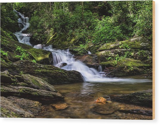Roaring Fork Waterfall Wood Print