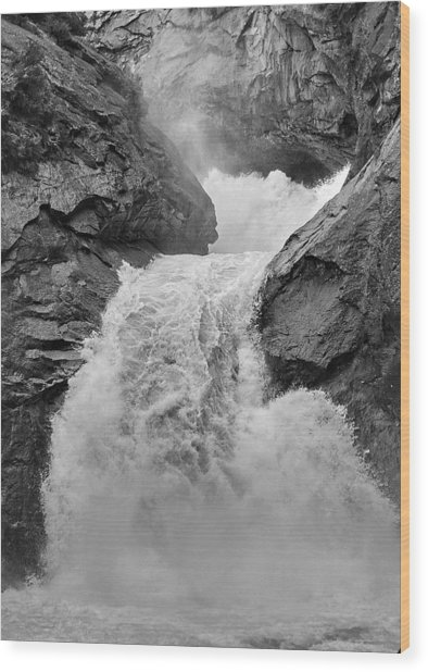 Roaring Fork Waterfall Wood Print by Arthurpete Ellison