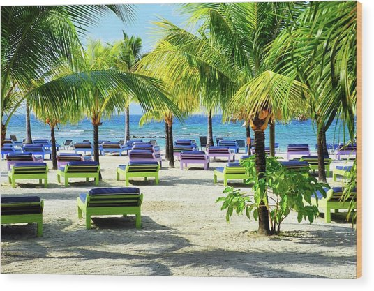 Roatan Island Resort Wood Print