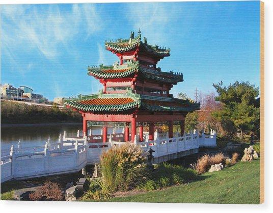 Robert D. Ray Asian Garden Wood Print