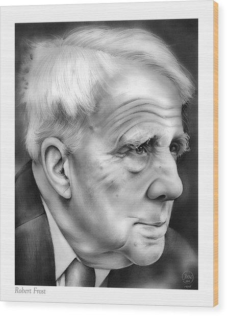 Robert Frost Wood Print