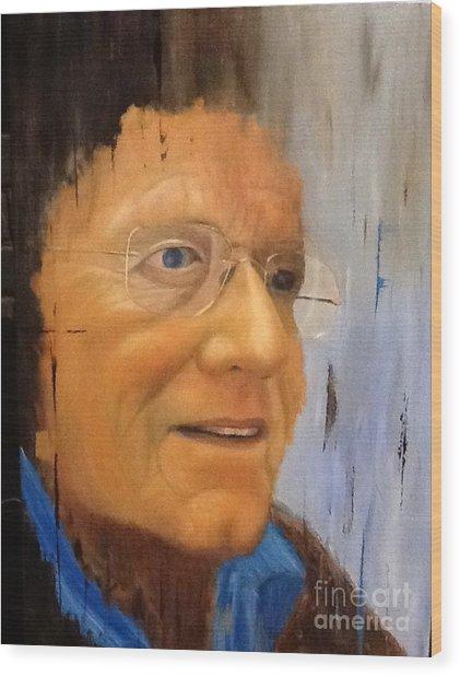 Robert Monk Self Portrait Wood Print