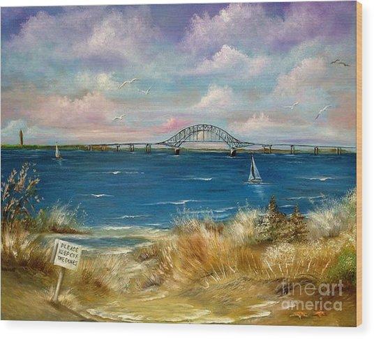 Robert Moses Bridge Wood Print