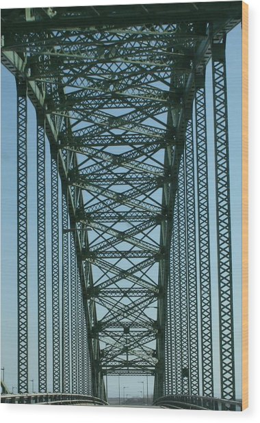Robert Moses Causeway Bridge Wood Print