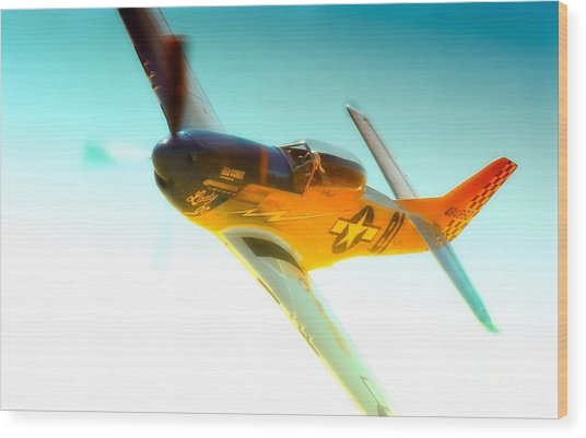 Robert Patterson And Tf-51d Mustang Lady Jo 2010 Reno Air Races Wood Print