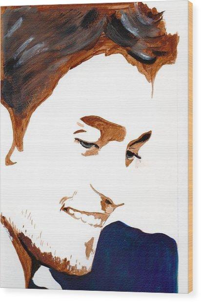 Robert Pattinson 14 Wood Print