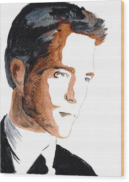 Robert Pattinson 18 Wood Print by Audrey Pollitt