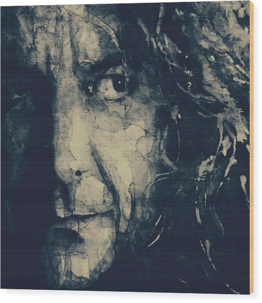 Robert Plant - Led Zeppelin Wood Print