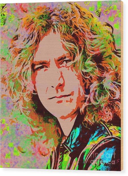 Robert Plant Wood Print