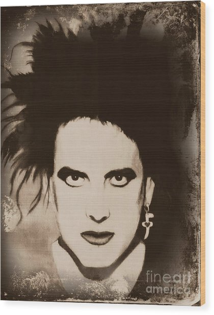 Robert Smith The Cure Wood Print