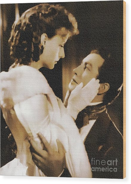 Robert Taylor And Greta Garbo Wood Print