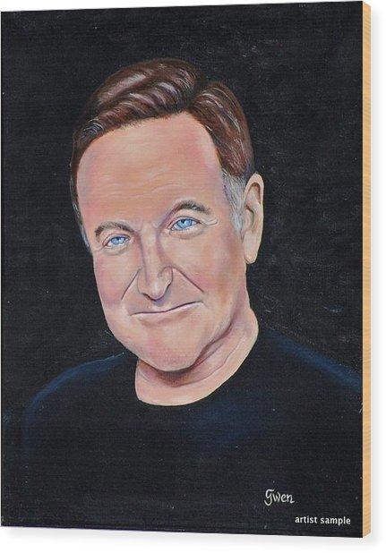 Robin Williams Wood Print