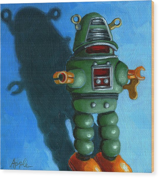 Robot Dream - Realism Still Life Painting Wood Print