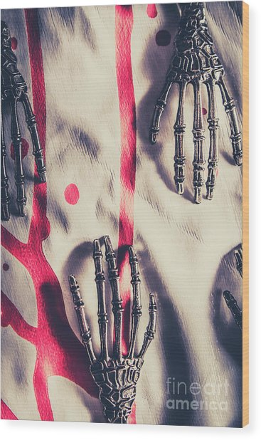 Robot Killing Machines Wood Print