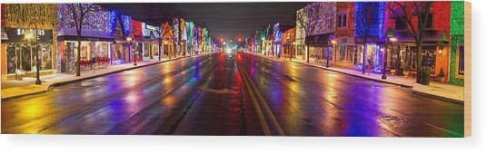 Rochester Christmas Light Display Wood Print by Twenty Two North Photography