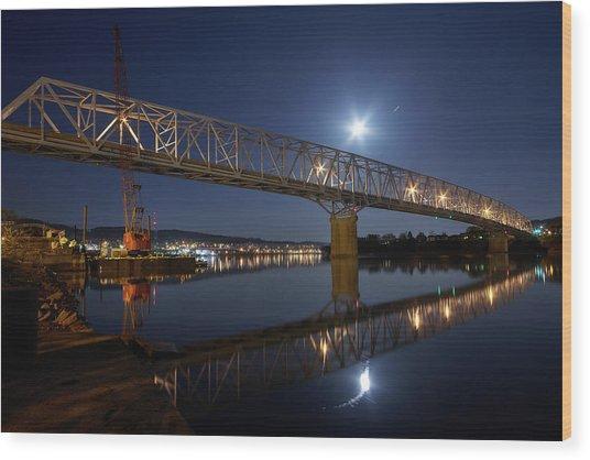Rochester-monaca Bridge Wood Print by Thomas DiVittis