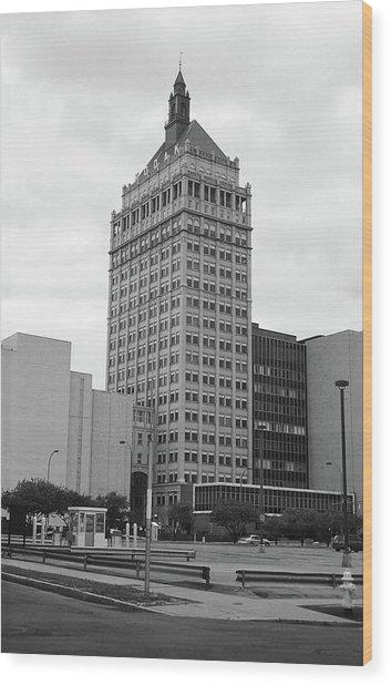 Rochester, Ny - Kodak Building 2005 Bw Wood Print